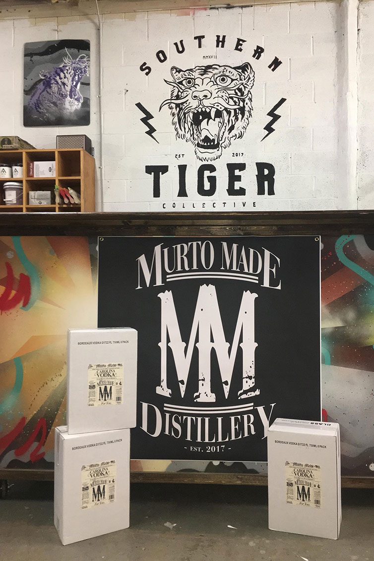 murto-made-huntersville-nc-distillery-spirits-tours-vodka-display